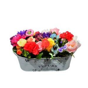 Aranjament floral colorat 20 cm