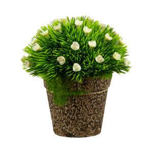 Floare artificiala 13 cm alba