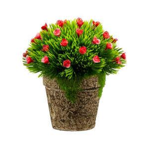 Floare artificiala 13 cm rosie